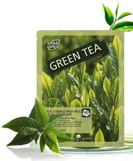 Тканевая маска для лица с экстрактом зелёного чая May Island (фото)
