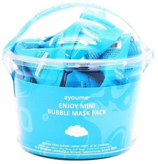 Пузырьковая очищающая маска в пирамидках Enjoy Mini Bubble Mask Pack Ayoume (фото, Пузырьковая маска AYOUME)