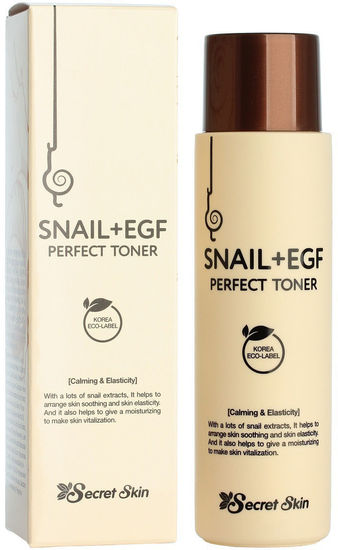 Антивозрастной тонер для лица с экстрактом улитки и фактором роста EGF Secret Skin