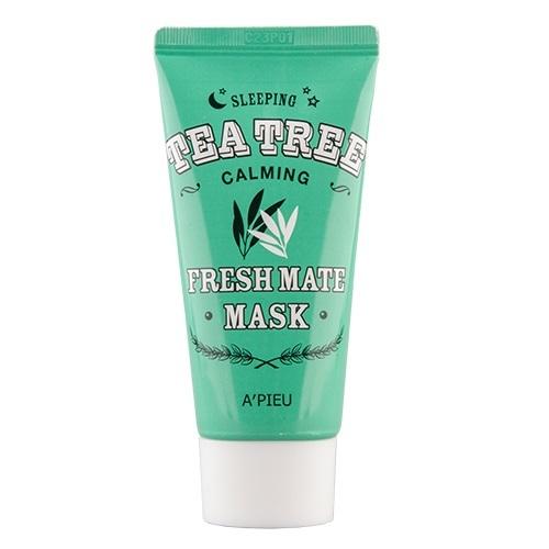 Ночная маска для лица успокаивающая с маслом чайного дерева Apieu