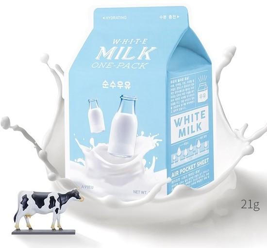 Тканевая маска для лица с экстрактом молока White Milk One-Pack Apieu