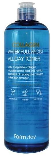 Укрепляющий тонер для лица с коллагеном Collagen Water Full Moist All Day Toner FarmStay