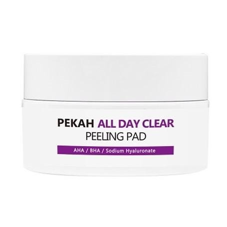 Очищающие и отшелушивающие диски с АНА и ВНА кислотами All Day Clear PEKAH (фото)