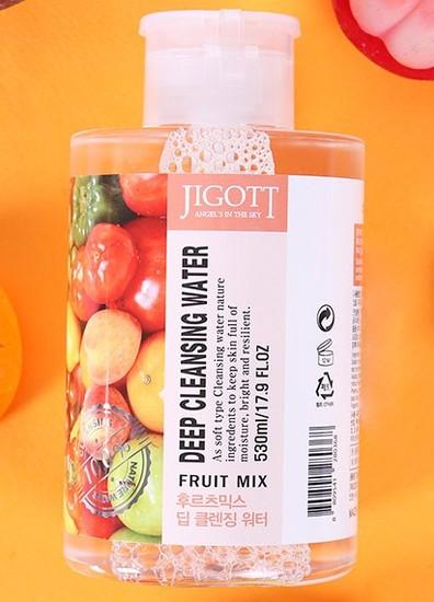 Глубоко очищающая вода для лица с экстрактами фруктов Jigott