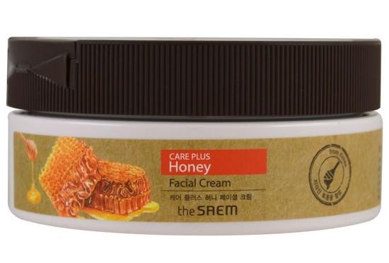 Крем для лица питательный медовый Care Plus Honey Facial Cream The Saem