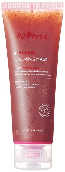 Успокаивающая маска для лица с лепестками роз Real Rose Calming Mask Isntree (фото)