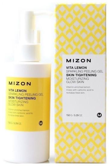 Витаминный пилинг-гель с экстрактом лимона Vita Lemon Sparkling Peeling Gel Mizon (фото)