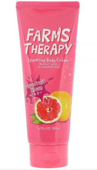 Крем для тела Грейпфрут Farms Therapy Sparkling Body Cream Daeng Gi Meo Ri