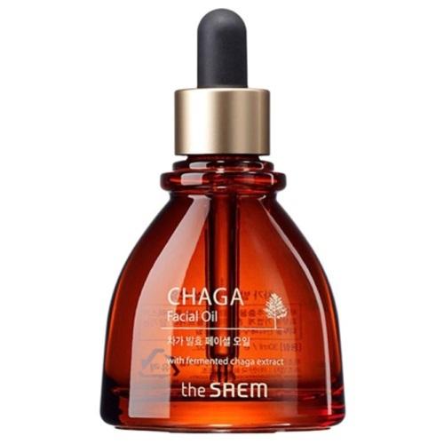 Антивозрастное масло для лица с экстрактом чаги Chaga Facial Oil The Saem (фото)