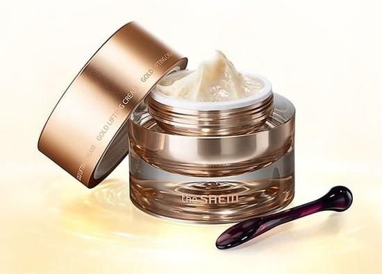 Антивозрастной лифтинг-крем для лица с золотом Gold Lifting Cream The Saem (фото, The Saem Gold Lifting Cream)