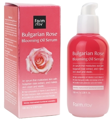 Сыворотка для лица с экстрактом болгарской розы Bulgarian Rose Blooming Oil Serum FarmStay