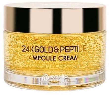 Ампульный крем для лица с золотом и пептидами 24K Gold & Peptide Ampoule Cream Eyenlip (фото)