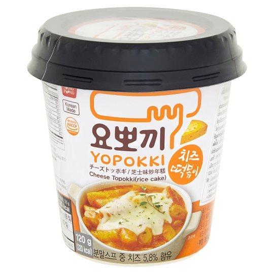 Рисовые палочки с добавлением сырного соуса Токпокки Cheese Yopokki rice cake (фото)