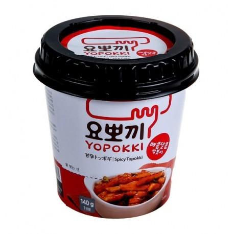 Рисовые палочки с соусом сладко-острые Токпокки Yopokki Sweet and Spicy rice cake (фото)