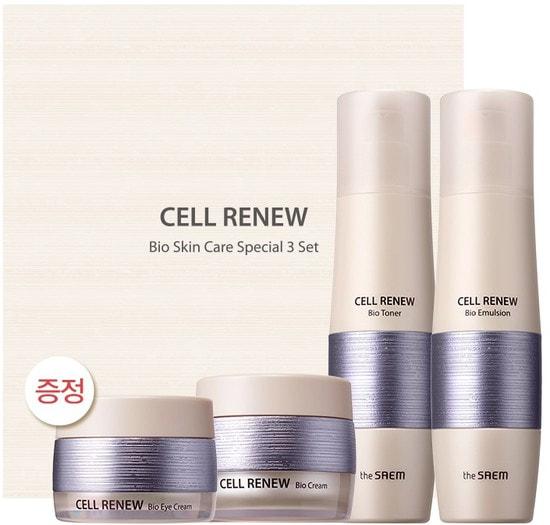 Премиальный набор уходовый антивозрастной Cell Renew Bio Skin Care Special 3 Set The Saem (фото)