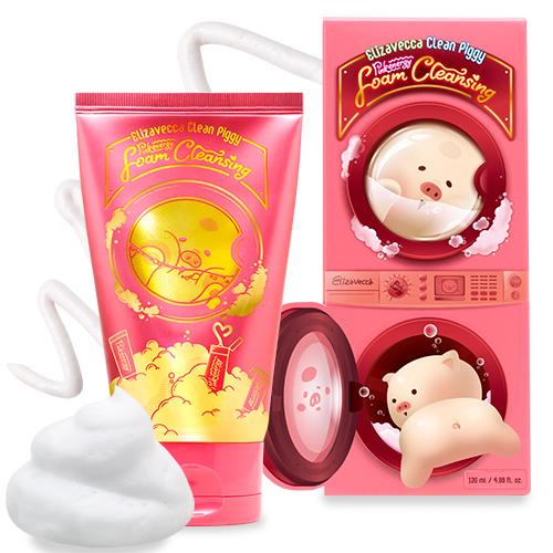 Очищающая пенка для умывания Clean Piggy Pink Energy Foam Cleansing Elizavecca