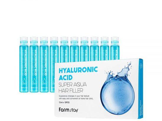 Суперувлажняющий филлер для волос с гиалуроновой кислотой Hyaluronic Acid Super Aqua Hair Filler FarmStay (фото)