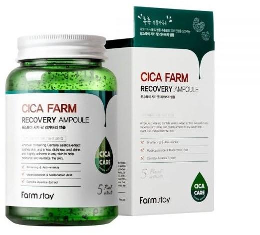 Многофункциональная ампульная сыворотка для лица с центеллой азиатской Cica Farm Recovery Ampoule FarmStay (фото)