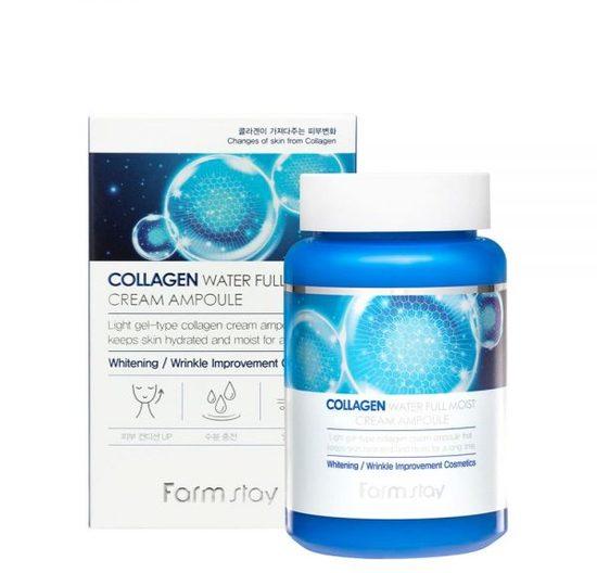 Увлажняющий ампульный крем для лица с коллагеном Collagen Water Full Moist Cream Ampoule FarmStay (фото)