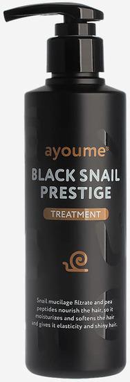 Восстанавливающая маска для волос с муцином улитки Black Snail Prestige Treatment Ayoume (фото)