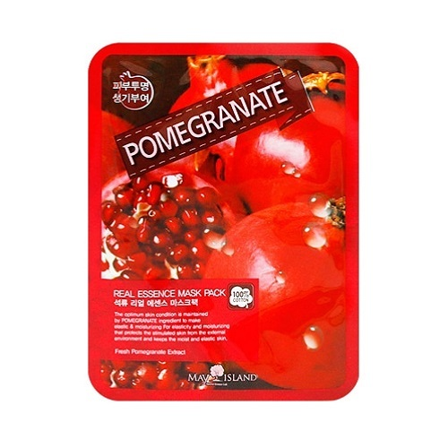 Тканевая маска с гранатом Real Essence Pomegranate Mask Pack May Island (фото)