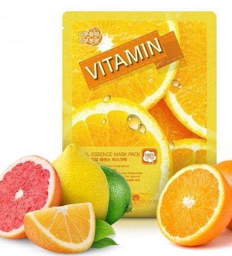 Тканевая маска для лица с витаминами Real Essence Mask Pack Vitamin May Island (фото)