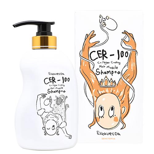 Восстанавливающий шампунь для волос CER-100 Collagen Coating Hair Muscle Shampoo Elizavecca (фото)