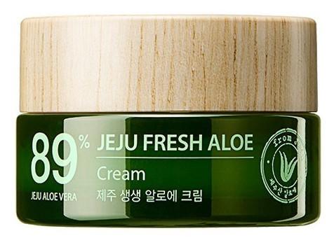 Увлажняющий успокаивающий крем для лица с алоэ Jeju Fresh Aloe Cream The Saem (фото)