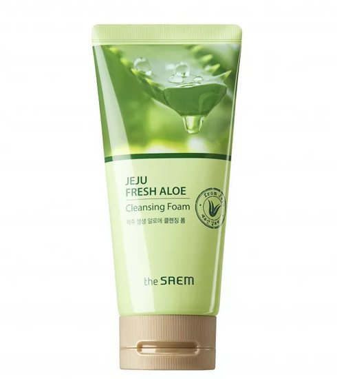 Увлажняющая пенка для умывания Jeju Fresh Aloe Cleansing Foam The Saem