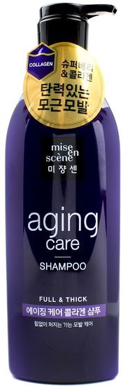 Антивозрастной шампунь для волос с пудрой чёрного жемчуга и коллагеном Aging Care Shampoo Mise en scene