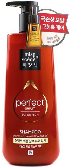 Насыщенный шампунь для интенсивного восстановления поврежденных волос Perfect Serum Shampoo Super Rich Morocco Argan Oil Mise en scene