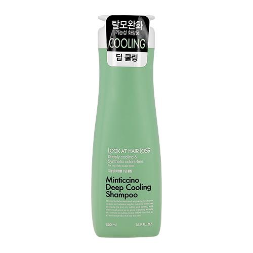 Охлаждающий шампунь для жирной кожи головы Look At Hair Loss Minticcino Deep Cooling Shampoo Daeng Gi Meo Ri