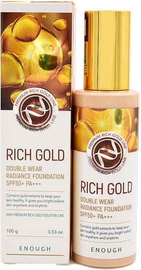 Тональная основа с золотом для сияния кожи Rich Gold Double Wear Radiance Foundation SPF 50 Enough (фото)