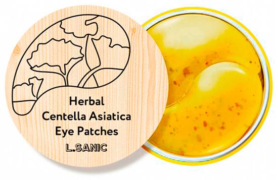 Гидрогелевые патчи для глаз с центеллой азиатской Herbal Centella Asiatica Eye Patches L'Sanic (фото)