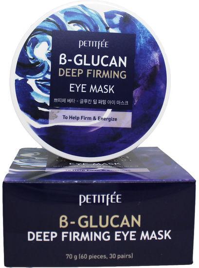 Укрепляющие тканевые патчи под глаза с бета-глюканом B-Glucan Deep Firming Eye Mask Petitfee (фото)
