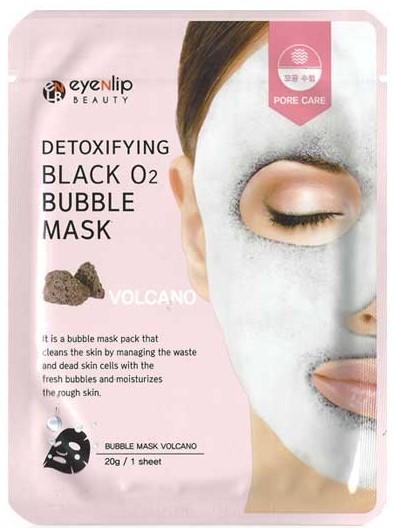 Кислородная маска с вулканической глиной Detoxifying Black O2 Bubble Mask Volcano Eyenlip (фото)