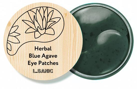 Гидрогелевые патчи с экстрактом голубой агавы Herbal Blue Agave Hydrogel Eye Patches L'Sanic (фото)