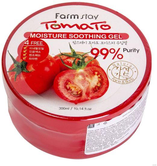 Увлажняющий успокаивающий гель для лица и тела с экстрактом томатов Tomato Moisture Soothing Gel FarmStay (фото)