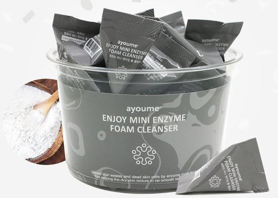Энзимная пенка для умывания в пирамидках Enjoy Mini Enzyme Foam Cleanser Set Ayoume (фото)