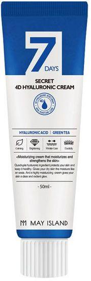Увлажняющий крем для лица с 4 видами гиалуроновой кислоты 7 Days Secret 4D Hyaluronic Cream May Island