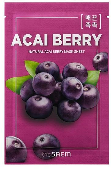 Тканевая маска с экстрактом ягод асаи Natural Acai Berry Mask Sheet The Saem (фото)