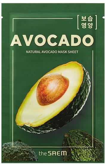 Тканевая маска с экстрактом авокадо Natural Avocado Mask Sheet The Saem (фото)