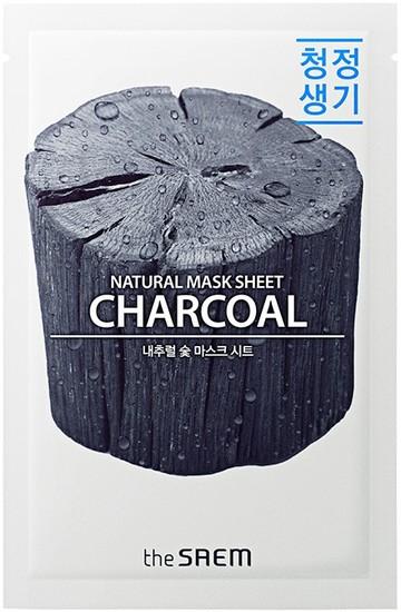 Тканевая маска с древесным углем Natural Charcoal Mask Sheet The Saem (фото)