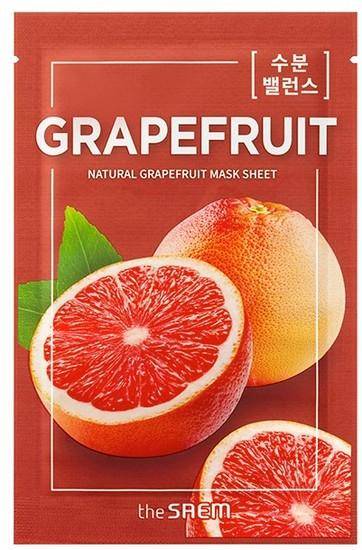 Тканевая маска с экстрактом грейпфрута Natural Skin Fit Mask Sheet Grapefruit The Saem (фото)