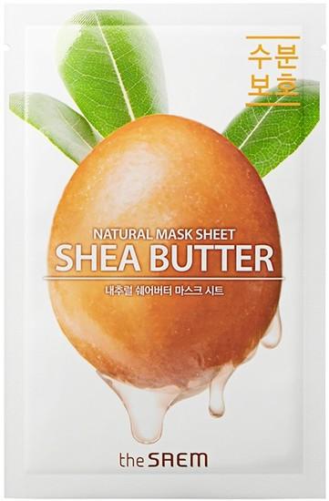 Тканевая маска для лица с экстрактом масла Ши Natural Shea Butter Mask Sheet The Saem