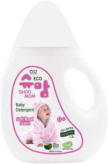 Концентрированный ЭКО гель для стирки детского белья с цветочным ароматом Shoomom baby detergent Floral
