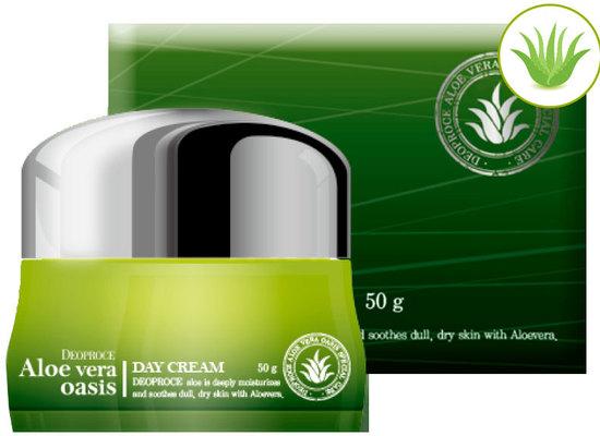 Дневной крем для лица с алоэ вера Aloe Vera Oasis Day Cream Deoproce (фото)