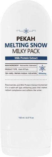 Осветляющая маска для лица с молочными протеинами Melting Snow Milky Pack Pekah