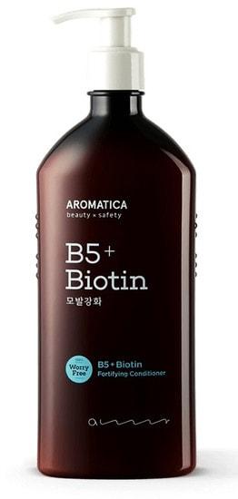 Бессиликоновый укрепляющий кондиционер с биотином B5+Biotin Fortifying Conditioner Aromatica (фото, Кондиционер с биотином B5+Biotin Fortifying Conditioner Aromatica)