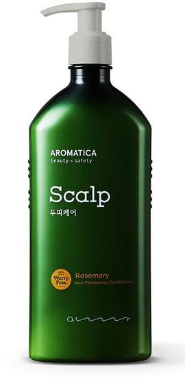 Бессиликоновый укрепляющий кондиционер с розмарином Rosemary Hair Thickening Conditioner Aromatica (фото)